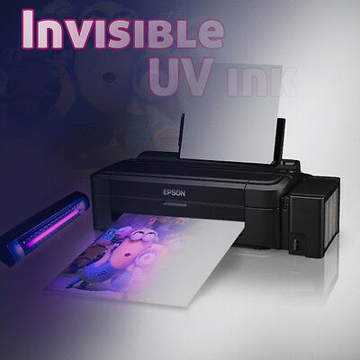 Epson L130 Printer with Invisible UV Ink