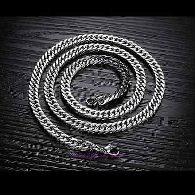 Super Cool Fashion Men Titanium Stainless Steel 316L Horsewhip Chain Necklace