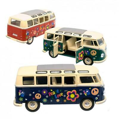Modellauto VW T1 Bulli Flower Power VW Hippie Bus Volkswagen T1 Bus Liebe
