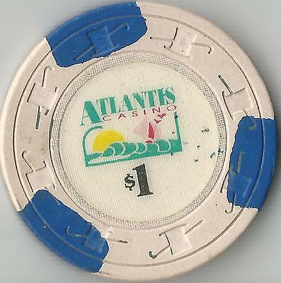 Vintage Atlantis   $1   Casino  Chip