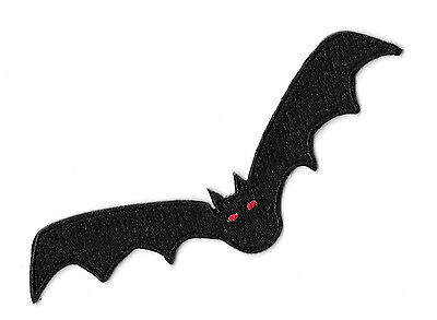 Bat - Vampire - Halloween  - Embroidered Iron On Applique Patch