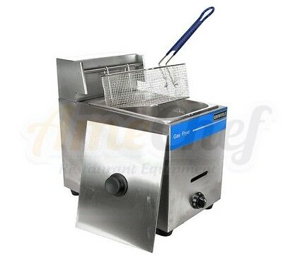 New Commercial Countertop Gas Fryer, 1 Basket, Uniworld UGF-71 Propane (LPG)