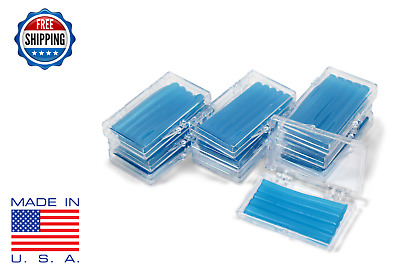 10 Pack Orthodontic WAX For BRACES Irritation -BLUE MINT SCENTED -Dental Relief