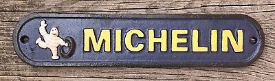 Michelin Tires Vintage Cast Iron Metal Advertising Wall Plaque Sign