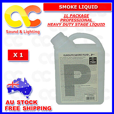 1 LTR HEAVY DUTY MIST Smoke Fluid Fog Liquid LED, Laser Light free postage