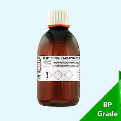Benzyl Alcohol 99.5% ACS 250ml Food/Pharmaceutical/Cosmetic Grade
