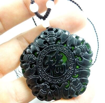 Beautiful Chinese jade hand-carved the statue of blessing PENDANT E-6