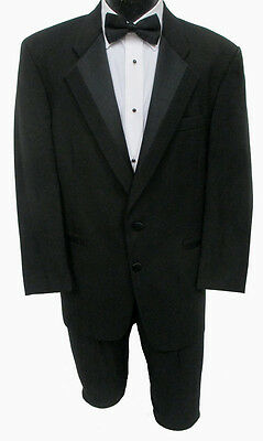 42R Black Tuxedo Jacket With Pants Discount Prom Package Costume James Bond