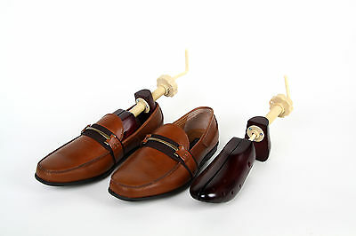 Men's Wooden Shoe Stretchers by SWE - Two-Way Stretch - Size 9-14 - One Pair