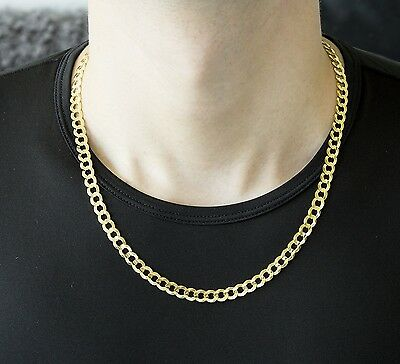 """2.2Mm 14K Solid Yellow Gold Cuban Link Women/ Men's Necklace Chain 7.5""""-24"""""""