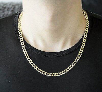 "2.2Mm 14Mm 14K Solid Yellow Gold Cuban Link Women/ Men's Necklace Chain 7.5""-24"""