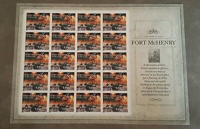 The War of 1812 : Fort McHenry, Full Pane Stamps