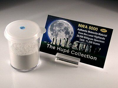 🌙 Legendary NWA 5000 Lunar Meteorite Moon Rock 20.0 grams Pure Dust