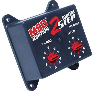 MSD Ignition 8732 Black Digital 2-Step Rev Controllers Multi-Step RPM - MSD8732