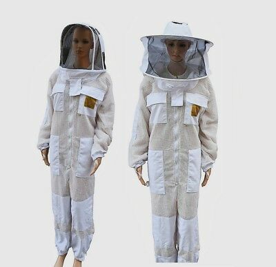 Oz Apiarist Beekeeping Bee Suit Ventilated  Three Layer Mesh  Optional Gloves