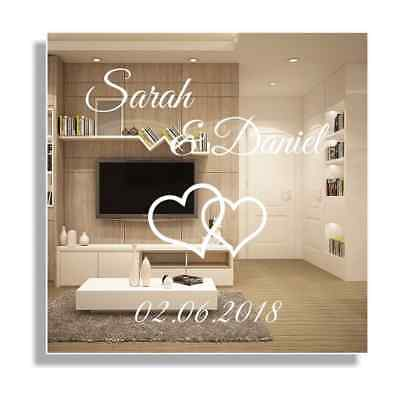 hochzeit spiegel gravur motivspiegel namen geschenk glas. Black Bedroom Furniture Sets. Home Design Ideas