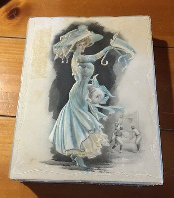 Antique  Victorian Lady Candy Container Box