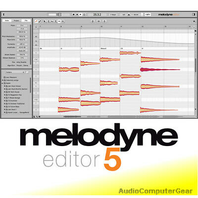 Celemony MELODYNE EDITOR 4 UPGRADE FROM MELODYNE ESSENTIAL Software Plug-in NEW
