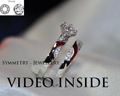 1.18CT Round Cut Created Diamond Engagement Wedding Ring in 925 Silver