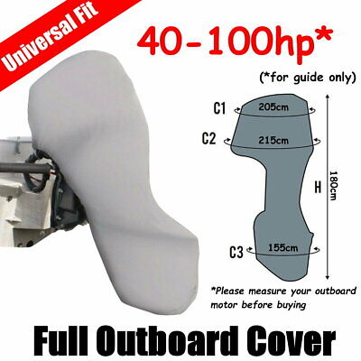 100-150hp Full Outboard Boat Motor Engine Cover Dust Rain Protection Grey