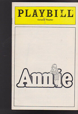 Annie Playbill March 1980 Colonial Theatre Mary K Lombardi Norwood Smith