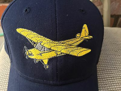 Piper J3 Cub Embroidered Cap * custom-stitched by owner