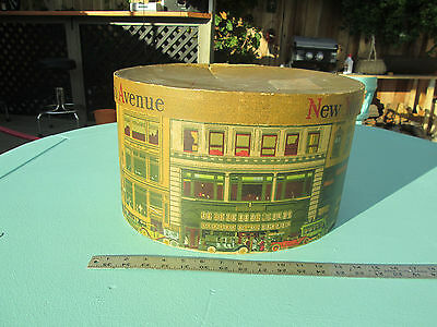 RARE 1946 Dobbs New York Hat Box Large Great Colors From Desmond's L.A.