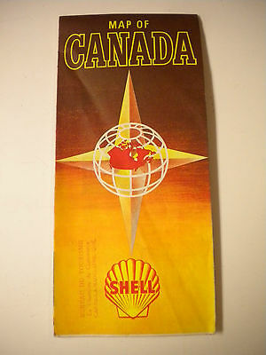 Vintage 1960's Shell Gasoline, Map of Canada