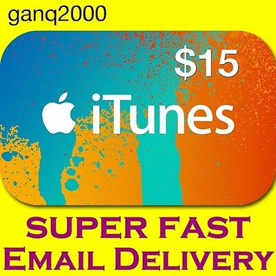 $15 APPLE US iTunes GIFT CARD voucher certificate FAST (USA iTunes Store)