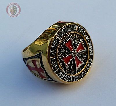 Templar Knights Ring - Gold & Silver Size 9 - (R½ - 59.5mm)