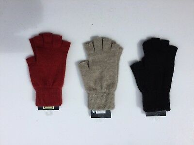 New Zealand Possum Fur Merino Wool Knitwear Fingerless Gloves - 3 colours