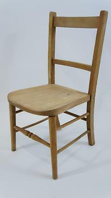Attractive Childs Elm & Beech school/church/chapel chair circa 1930's - stripped