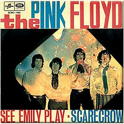 Pink Floyd See Emily Play steel fridge magnet (cv)