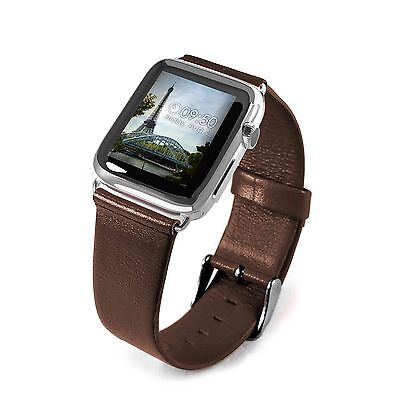 Tuff-Luv Genuine Leather Wrist Watch Strap Band for Apple Watch 1 / 2 Strap-42mm