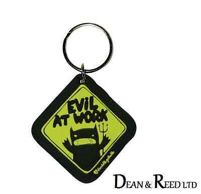 David & Goliath Monster Mash (Evil At Work) RUBBER KEYRING/KEYCHAIN BY PYRAMID