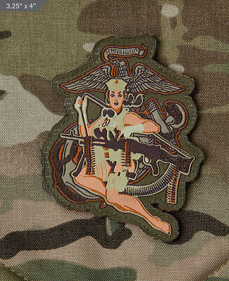 Mil-Spec Monkey DESERT MARINE MULTICAM Military Army Morale Patch - 00137