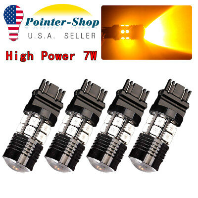 2X 7443 Red 2835 21SMD 80W High Power LED Turn Signal Back Up Reverse LED Light