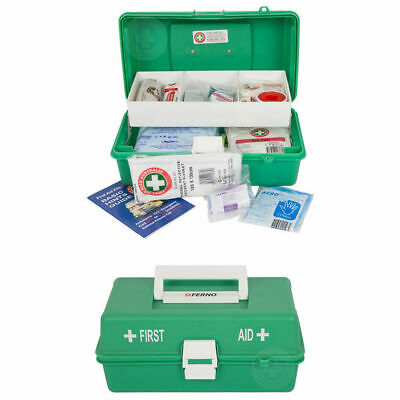 Emergency Medical First Aid Kit Injury Treatment Locking Portable Case Work/Home