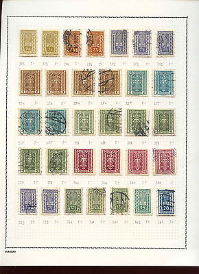 Hungary 1950-1953 Album Page Of Stamps #V3594