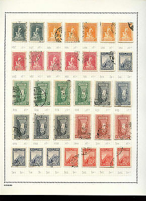 Hungary 1950-1953 Album Page Of Stamps #V3593