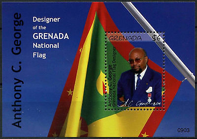Grenada 2009 Anthony C. George Flag MNH M/S #A91799