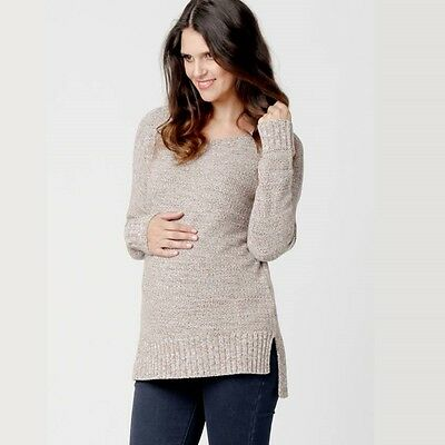Ripe Maternity Soft Knit Jumper Stone Wheat Natural 10 12 16 18 Plus Sweater NEW