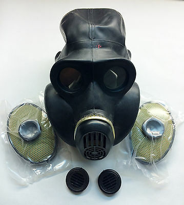 black gas mask PBF EO-19 size 0 extra small with filters