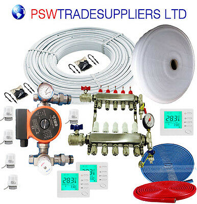 UnderFloor Heating Kit  Water 75 - 80 m2 (inc pump  IBO 130-60 ) +LCD Thermostat