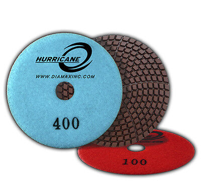 "4"" Hurricane Wet Diamond Polishing Pads - 1500 Grit"