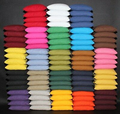 8 ALL WEATHER WATERPROOF CORNHOLE BAGS PICK YOUR 2 COLORS Resin Fill Top Quality