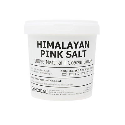 HIMALAYAN PINK SALT | 1KG BUCKET | COARSE | 100% Natural | Food/Cosmetic