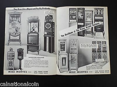 Vintage Mike Munves Corp. amusement machines catalog