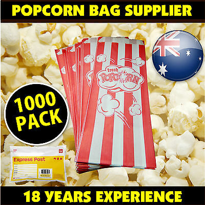 Pop corn Bags 1000 PACK Fetes Events Cinema Suit all popcorn machines bag