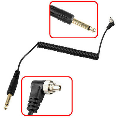 6.35mm Plug to Male PC Flash Sync Cable Cord with Screw Lock for YONGNUO RF-603